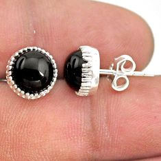 5.51cts natural black onyx 925 sterling silver stud earrings jewelry t43734