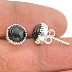 5.08cts natural black onyx 925 sterling silver stud earrings jewelry t43768