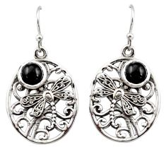 2.73cts natural black star 925 sterling silver butterfly earrings jewelry r44966