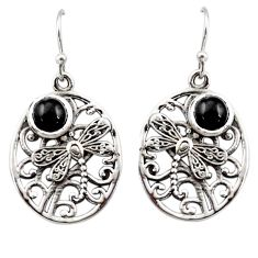 2.43cts natural black star 925 sterling silver butterfly earrings jewelry r44967