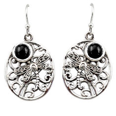 2.63cts natural black star 925 sterling silver butterfly earrings jewelry r44968