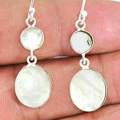7.42cts natural blister pearl 925 sterling silver dangle earrings jewelry r88321