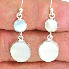 7.92cts natural blister pearl 925 sterling silver dangle earrings jewelry r88324