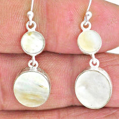 8.09cts natural blister pearl 925 sterling silver dangle earrings jewelry r88325