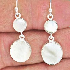 9.16cts natural blister pearl 925 sterling silver dangle earrings jewelry r88330