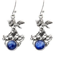 Clearance Sale- 6.48cts natural blue kyanite 925 sterling silver angel earrings jewelry d40828