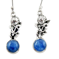 8.05cts natural blue kyanite 925 sterling silver angel earrings jewelry d46788
