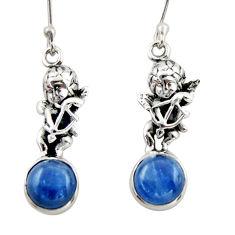 8.05cts natural blue kyanite 925 sterling silver angel earrings jewelry d46788