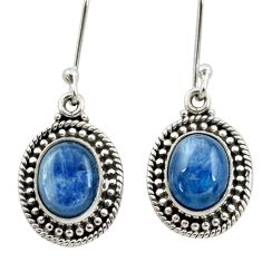 Clearance Sale- 7.89cts natural blue kyanite 925 sterling silver dangle earrings jewelry d40627