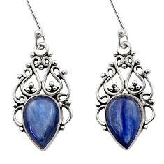 Clearance Sale- 8.44cts natural blue kyanite 925 sterling silver dangle earrings jewelry d40821