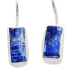 10.30cts natural blue kyanite 925 sterling silver dangle earrings jewelry d45781