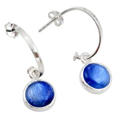 9.77cts natural blue kyanite 925 sterling silver dangle earrings jewelry d45798