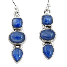 10.54cts natural blue kyanite 925 sterling silver dangle earrings jewelry r19851