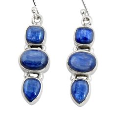 10.33cts natural blue kyanite 925 sterling silver dangle earrings jewelry r19853