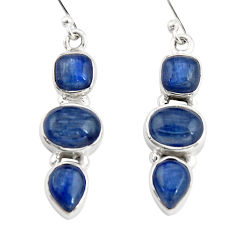 10.53cts natural blue kyanite 925 sterling silver dangle earrings jewelry r19854
