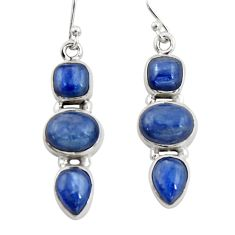10.54cts natural blue kyanite 925 sterling silver dangle earrings jewelry r19857