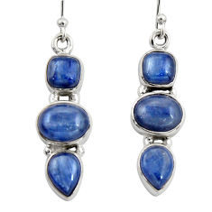 10.53cts natural blue kyanite 925 sterling silver dangle earrings jewelry r19858