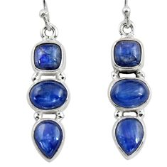11.36cts natural blue kyanite 925 sterling silver dangle earrings jewelry r47235