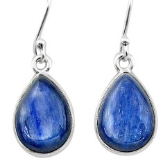 10.32cts natural blue kyanite 925 sterling silver dangle earrings jewelry t13903