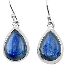 12.08cts natural blue kyanite 925 sterling silver dangle earrings jewelry t13912