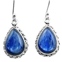 11.53cts natural blue kyanite 925 sterling silver dangle earrings jewelry t13916