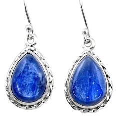 11.59cts natural blue kyanite 925 sterling silver dangle earrings jewelry t13923