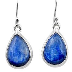 11.59cts natural blue kyanite 925 sterling silver dangle earrings jewelry t13927