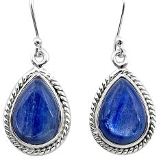 11.64cts natural blue kyanite 925 sterling silver dangle earrings jewelry t13935