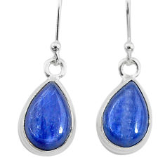 7.97cts natural blue kyanite 925 sterling silver dangle earrings jewelry t21381