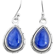 8.49cts natural blue kyanite 925 sterling silver dangle earrings jewelry t21383