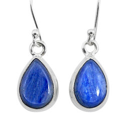 7.93cts natural blue kyanite 925 sterling silver dangle earrings jewelry t21385