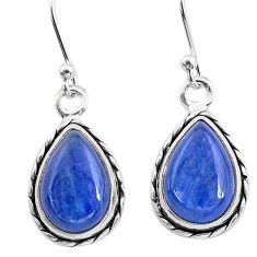 8.51cts natural blue kyanite 925 sterling silver dangle earrings jewelry t21386