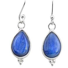 7.56cts natural blue kyanite 925 sterling silver dangle earrings jewelry t21389