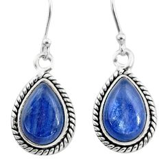 8.91cts natural blue kyanite 925 sterling silver dangle earrings jewelry t21391