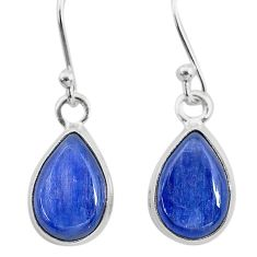 8.24cts natural blue kyanite 925 sterling silver dangle earrings jewelry t21392