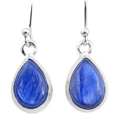 7.81cts natural blue kyanite 925 sterling silver dangle earrings jewelry t21396