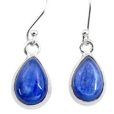 8.32cts natural blue kyanite 925 sterling silver dangle earrings jewelry t21397