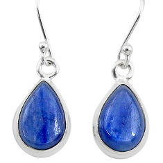 7.56cts natural blue kyanite 925 sterling silver dangle earrings jewelry t21401
