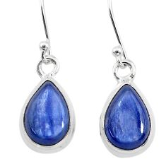 7.93cts natural blue kyanite 925 sterling silver dangle earrings jewelry t21402