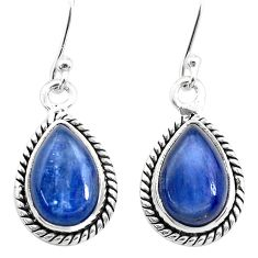 8.91cts natural blue kyanite 925 sterling silver dangle earrings jewelry t21403