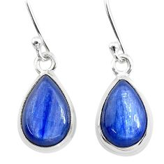 7.83cts natural blue kyanite 925 sterling silver dangle earrings jewelry t21405