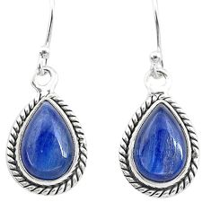 8.53cts natural blue kyanite 925 sterling silver dangle earrings jewelry t21406