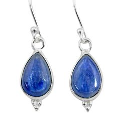 7.56cts natural blue kyanite 925 sterling silver dangle earrings jewelry t21408