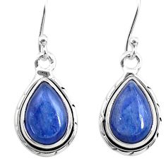 8.11cts natural blue kyanite 925 sterling silver dangle earrings jewelry t21411