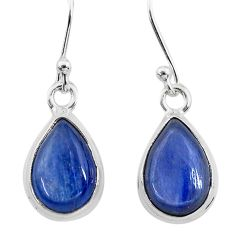 7.97cts natural blue kyanite 925 sterling silver dangle earrings jewelry t21412