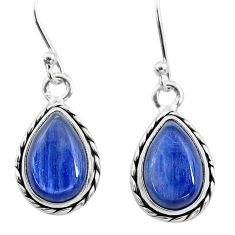 8.51cts natural blue kyanite 925 sterling silver dangle earrings jewelry t21413