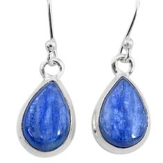 7.87cts natural blue kyanite 925 sterling silver dangle earrings jewelry t21416