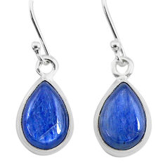 7.15cts natural blue kyanite 925 sterling silver dangle earrings jewelry t21417