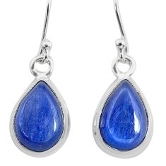 7.85cts natural blue kyanite 925 sterling silver dangle earrings jewelry t21419