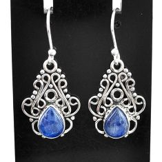 4.80cts natural blue kyanite 925 sterling silver dangle earrings jewelry t2501